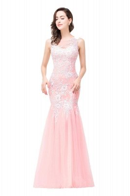 Sexy Pink Mermaid Prom Dress UK Straps Floor-length_12