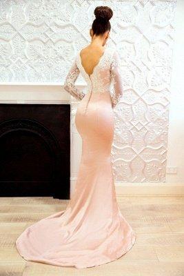 Long-Sleeve Lace Bridesmaid Dress UK | Mermaid Long Formal Wear_3