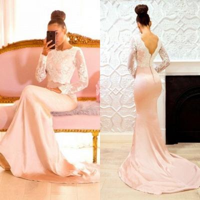 Long-Sleeve Lace Bridesmaid Dress UK | Mermaid Long Formal Wear_1