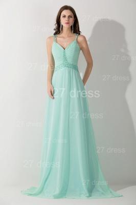 High Quality Chiffon A-line Evening Dress UK Straps Floor-length_1