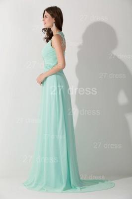 High Quality Chiffon A-line Evening Dress UK Straps Floor-length_2
