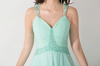 High Quality Chiffon A-line Evening Dress UK Straps Floor-length_5