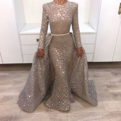 Sequin Prom Dress UKes UK UK with Train | Shining Evening Gowns with Sash_2