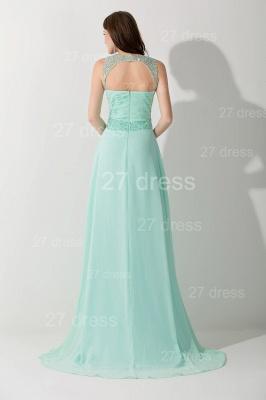 High Quality Chiffon A-line Evening Dress UK Straps Floor-length_3