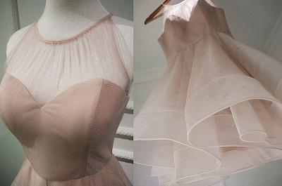 Homecoming Dress UKes UK Sleeveless Mini Elegant A-Line Chiffon Halter Cocktail Dress UKes UK_2