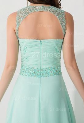 High Quality Chiffon A-line Evening Dress UK Straps Floor-length_4