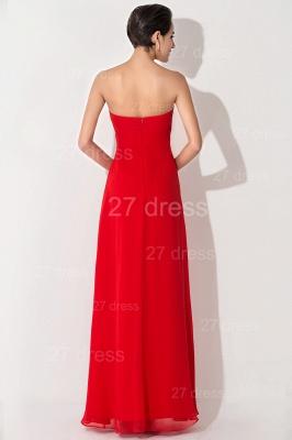 Newest Sweetheart Sleeveless A-line Evening Dress UK Chiffon A-line_3