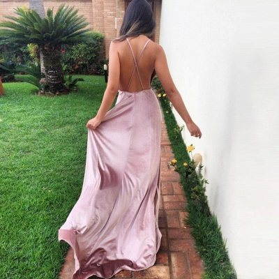 V-Neck Long Prom Dress UK | Evening Party Gowns With Split_3