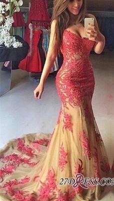 Mermaid Sexy Appliques Zipper Sweetheart Tulle Prom Dress UK_2