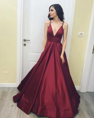 Sexy V Neck Spaghetti Prom Dress UK Long On Sale BA7143_1