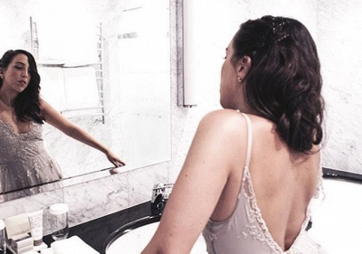 Elegant Spaghetti Strap Lace Prom Dress UK Open Back Sweep Train_3