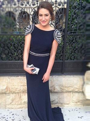 Timeless Cap Sleeveless Mermaid Prom Dress UKes UK Long With Beadings_3