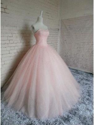 Sleeveless Sweetheart Prom Ball Gown Pink Tulle Dress UKes UK Chic Princess Dress UKes UK_3