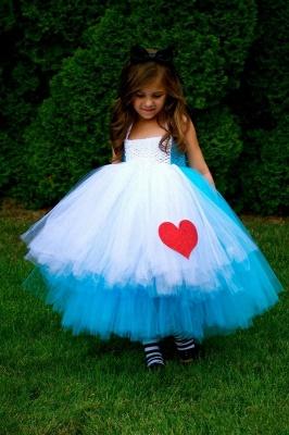 Mix Color Lovely Sleeveless Tulle Flower Girl Dress Ball Gown_1
