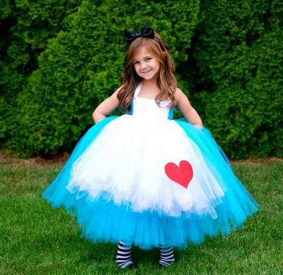 Mix Color Lovely Sleeveless Tulle Flower Girl Dress Ball Gown_2