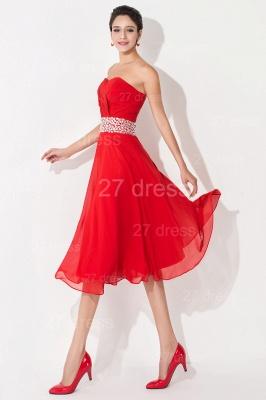 Modern A-line Red Chiffon Evening Dress UK Crystals Knee-length_3
