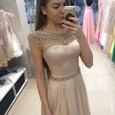 Gorgeous Jewel Long Evening Dress UK Chiffon Crystal Floor Length_3