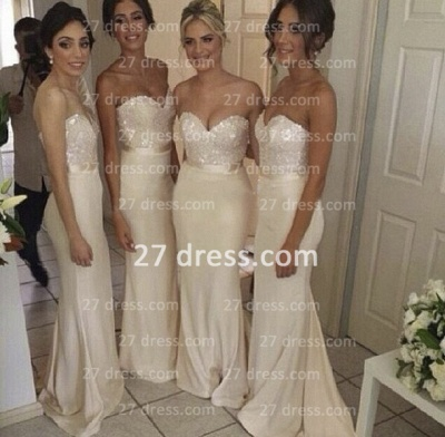Luxury Sequined sheath prom Dress UK satin newest style bridesmaid gowns_3