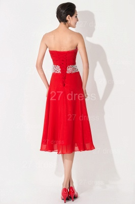 Modern A-line Red Chiffon Evening Dress UK Crystals Knee-length_4