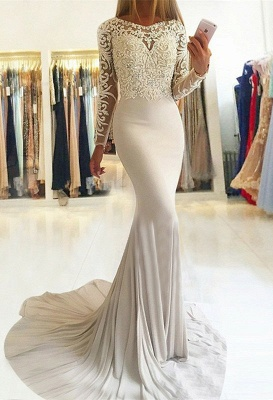 Sexy Long-Sleeve Lace Prom Dress UK | Mermaid Evening Party Gowns_1