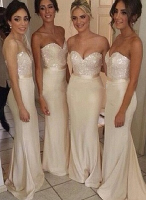 Luxury Sequined sheath prom Dress UK satin newest style bridesmaid gowns_1
