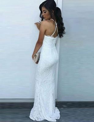 Sexy White Lace Prom Dress UK Mermaid Long_3