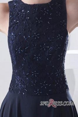 Sleeveless Long Beadings Chiffon Lace Sexy Bridesmaid Dress UK_4