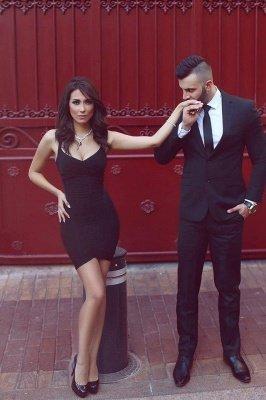Elegant Black Sweetheart Cocktail Dress UK Tight Homecoming Dress UKes UK On Sale_1