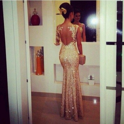 Luxury Sequined Mermaid Evening Dress UKes UK Sweetheart Appliques Floor Length Prom Gowns_2