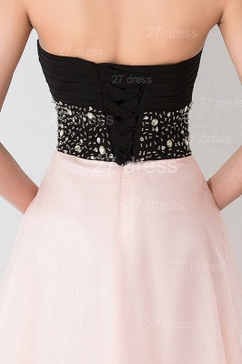 Luxury Sweetheart Beadings Prom Dress UK Long Chiffon Pink_5