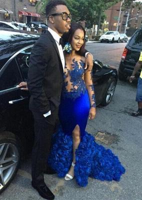 Modern Long Sleeve Royal Blue Prom Dress UKes UK Mermaid Woemn's Party Gowns BK0_1