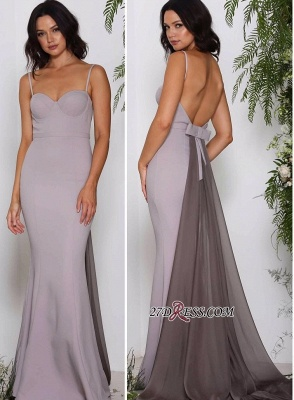 Spaghetti straps long prom Dress UK, affordable evening Dress UKes UK_1