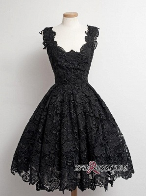Short Scoop-Neck Lace Black Little Dress UKes UK Homecoming Dress UKes UK_3