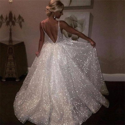 Sparkly Sequins Prom Dress UK | A-Line Evening Gowns On Sale_3