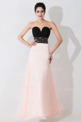 Luxury Sweetheart Beadings Prom Dress UK Long Chiffon Pink_1