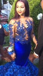 Modern Long Sleeve Royal Blue Prom Dress UKes UK Mermaid Woemn's Party Gowns BK0_5