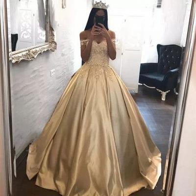 Gorgeous Off-the-Shoulder Appliques Princess Evening Dress UK Long Floor Length Party Dress UK BA7571_3