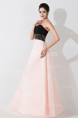 Luxury Sweetheart Beadings Prom Dress UK Long Chiffon Pink_4