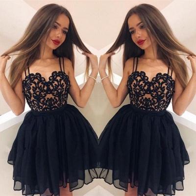 Elegant Black Lace Homecoming Dress UK | Short Prom Dress UK On Sale_3