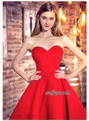 Cocktail-Dress UKes UK Sweetheart-Neck Red Short Hi-Lo Chic Party Dress UKes UK_3