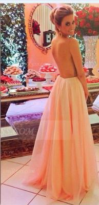 Evening Crystals Elegant Prom Dress UKes UK Halter Sleeveless Gowns A-line Floor-length Backless Charming_2