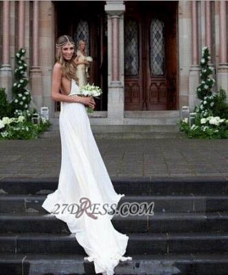 Sexy Halter Sleeveless Chiffon Prom Dress UK With Beadings Floor-length_2