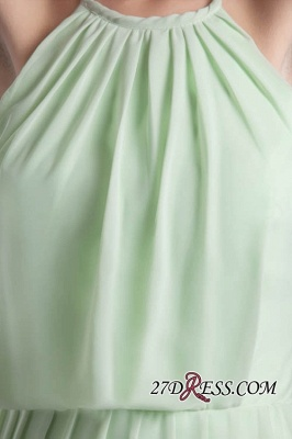 Short Zipper Halter Chiffon Backless Sexy Bridesmaid Dress UK_3