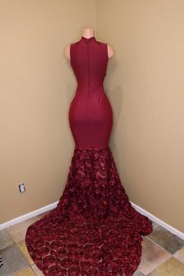 Burgundy mermaid prom Dress UK, long evening gowns_4