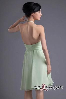 Short Zipper Halter Chiffon Backless Sexy Bridesmaid Dress UK_4