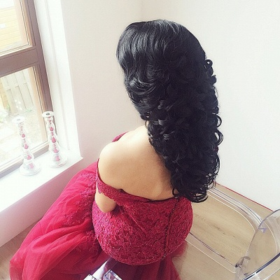 Luxury Off-the-Shoulder Burgundy Prom Dress UK Long Mermaid Lace Party Gowns BA7580_4