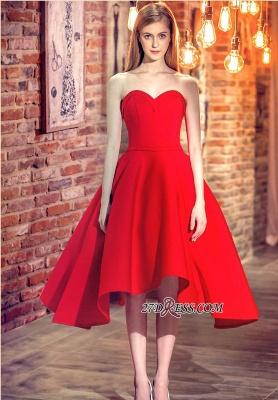 Cocktail-Dress UKes UK Sweetheart-Neck Red Short Hi-Lo Chic Party Dress UKes UK_5