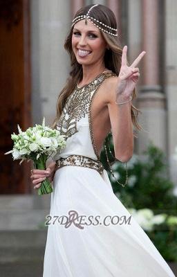 Sexy Halter Sleeveless Chiffon Prom Dress UK With Beadings Floor-length_3