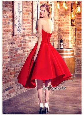 Cocktail-Dress UKes UK Sweetheart-Neck Red Short Hi-Lo Chic Party Dress UKes UK_2