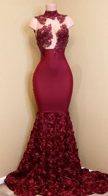 Burgundy mermaid prom Dress UK, long evening gowns_1